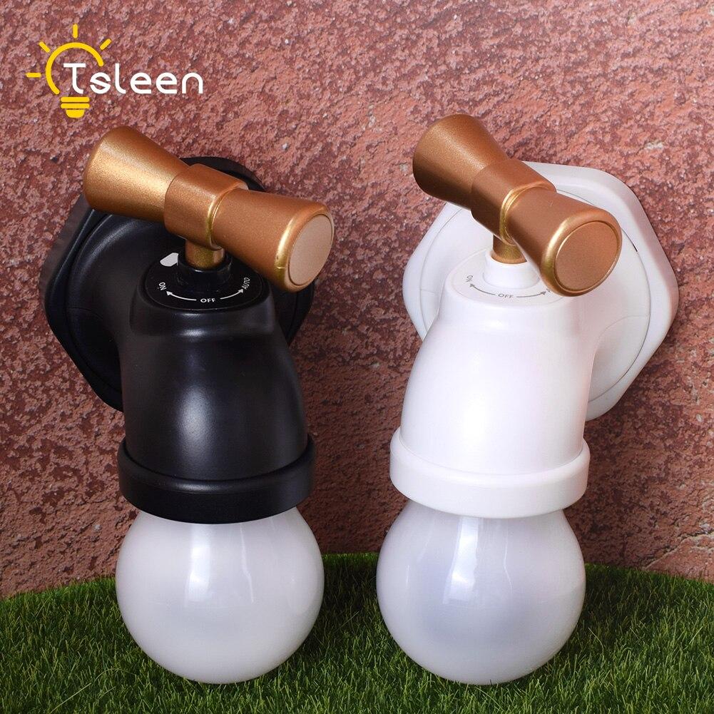 TSLEEN DC 5V USB Tap Shape Night Light Antique Faucet Design Voice Control Long Time Rechargeable LED Light for Nursery Bedroom