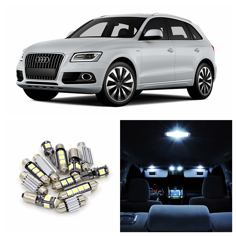 19pcs Canbus Error Free Car White LED Light Bulbs Interior Package Kit For 2008-2013 Audi Q5 Map Dome Glove box Door Lamp