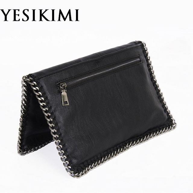Yesikimi Women S Handbags Stella Chain Bag Fold Over Purse Day Clutches Lady Punk Style Envelope