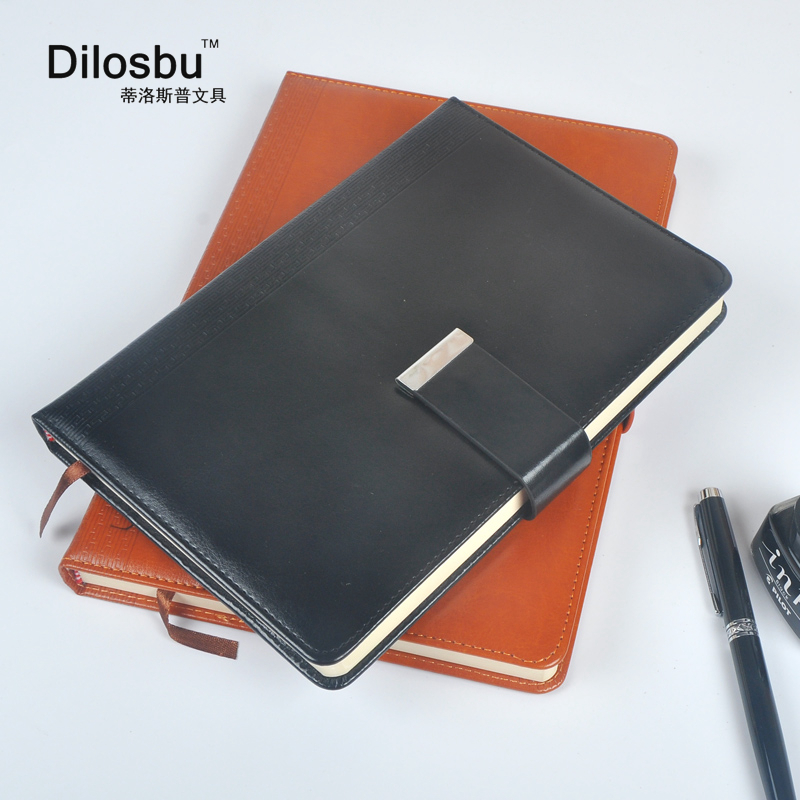 Dilosbu A5 B5 magnetic business travel notebook composition book leather cover travel journal office planner School supplies