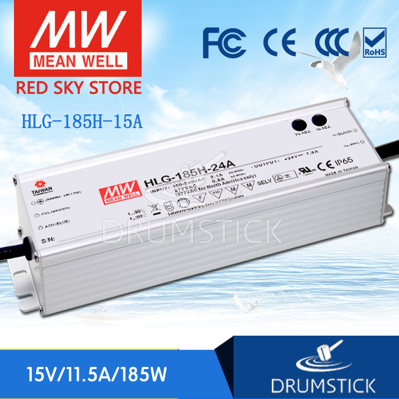 цена на Advantages MEAN WELL HLG-185H-15A 15V 11.5A meanwell HLG-185H 15V 172.5W Single Output LED Driver Power Supply A type