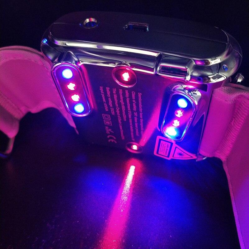 WEBER laserwatch avec rouge et bleu bas niveau laser thérapie montre dispositif faible levier Laser thérapie médicale montre acouphènes