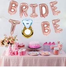 Foil Diamond Ring Team Bride TO BE Letter Balloons Banner for Bridal Shower Wedding Bachelorette Hen Party Decorations цена и фото