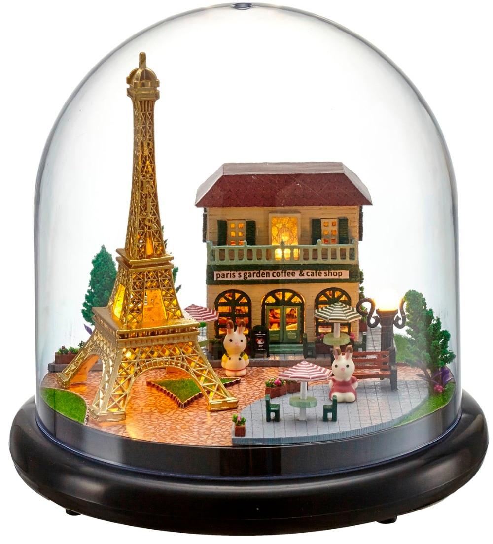 Diy hölzernes puppenhaus miniatur 3d handwerk kabine spielzeug puppen für kinder spielzeug weihnachten geburtstagsgeschenk 2015 neue