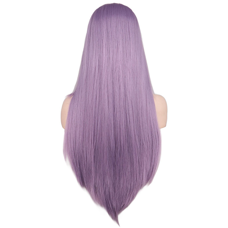 cabelo sintético liso médio para mulheres, preto,