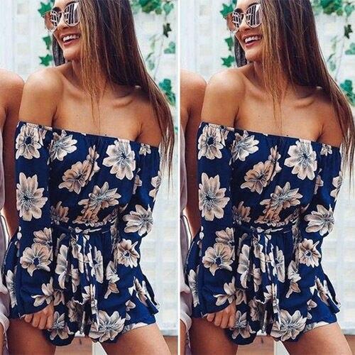 Hot New Women Summer Beach Jumpsuit Clubwear Bodycon Playsuit Romper Short Pants