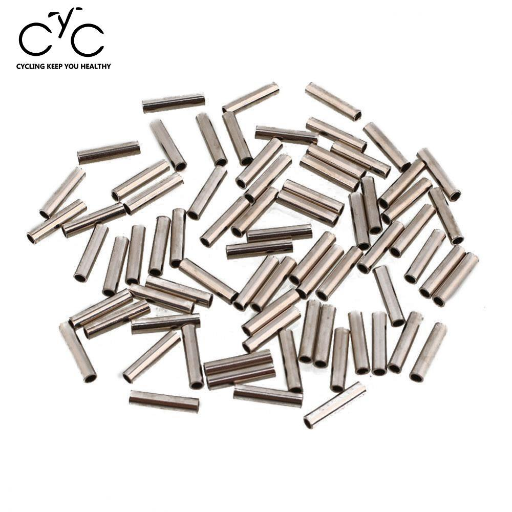 Relefree Easy Catch 100pcs Oval Aluminum Fishing Tube Fishing Wire Pipe Crimp Sleeves Connector Fishing Line Accessories ...