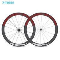 700C Carbon Wheelset Clincher 50mm Carbon Bicycle Wheels tubeless Road Bike Wheels Basalt Braking straight pull hubs DT spoke