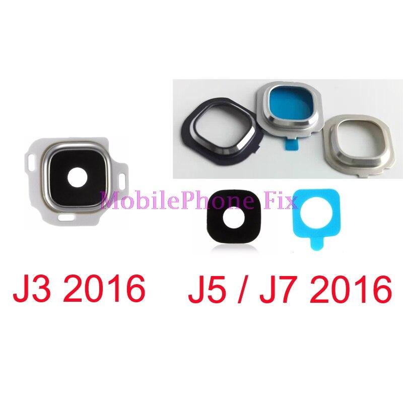 5 Set Glass Back Camera Lens + Metal Frame Holder For Samsung Galaxy J3 J5 J7 2016 J320 J510 J710 with Adhesive Glue