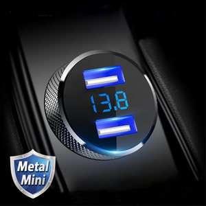 5V 3.4A Full Metal USB Car Cha