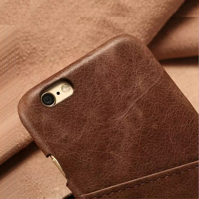 Real Genuine Leather Thin Case For iPhone 5 5S SE 5SE X 7 8 Plus 6 6S Phone Cases Luxury Slim Card Hard Back Cover Retro Vintage