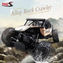 Nueva Aleación 4WD 2.4 GHz Rastreadores de Rock RC Escalada Coche Modelo de Control Remoto de Vehículos Off-Road Rally Motores Dobles los niños de Juguete