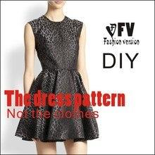 Платья Швейные шаблон резки одежды для рисования DIY(не продавая одежду) BLQ-166