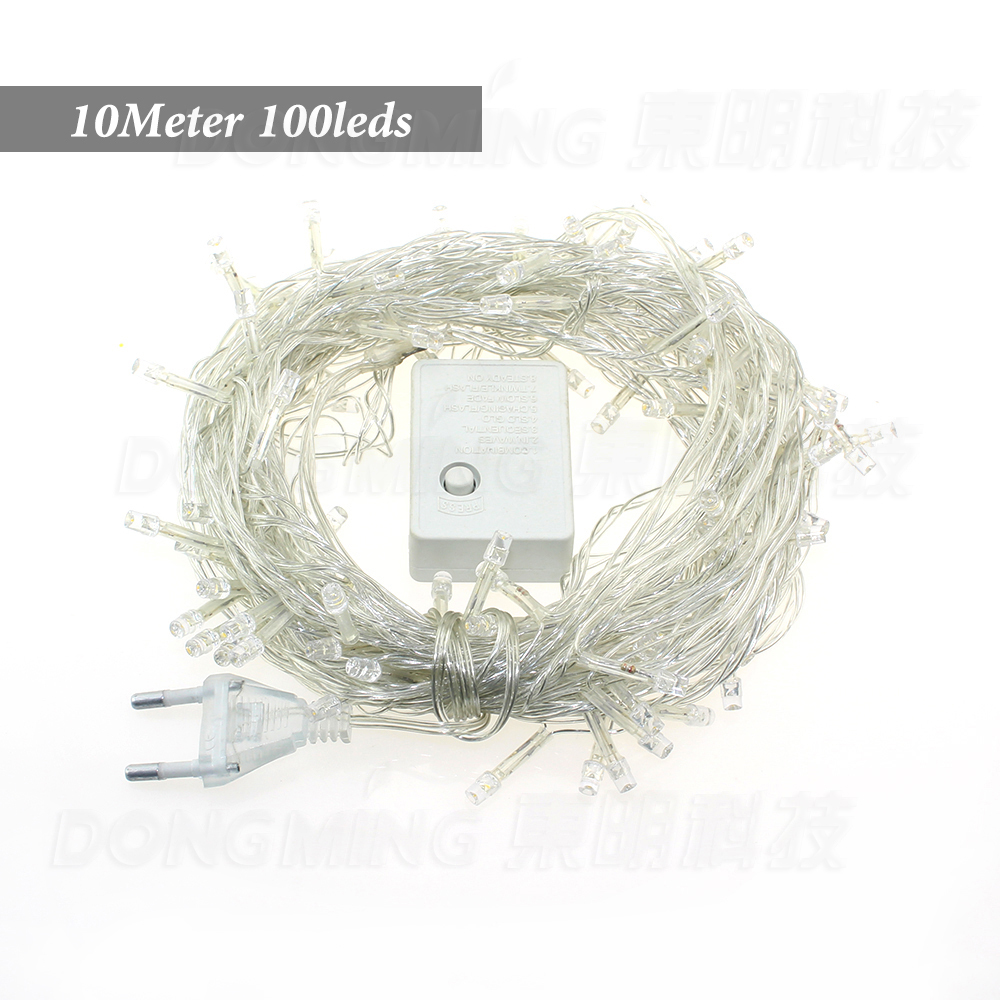 New 10M 100 LED Party LED Christmas Lights Outdoor wedding decoration Twinkle lights with tail plug