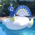 190 см гигантский поплавок с павлином для летней вечеринки в бассейне надувные игрушки для воды для взрослых детей надувное кольцо Для Плава...