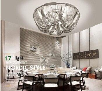 Réplicas diseño italiano cadena esbelta terzani soscik suspensión luz aluminio moderna Cadena de aluminio lámpara de techo