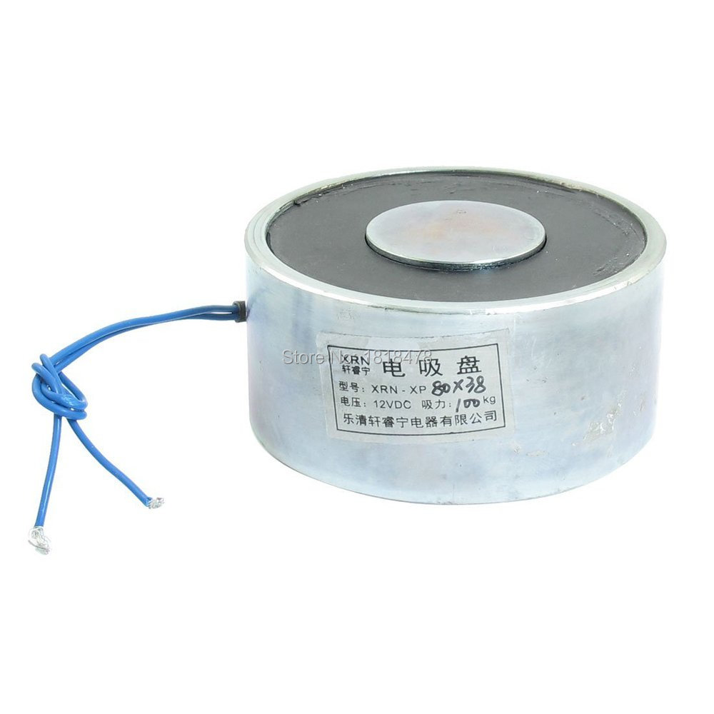 XRN-XP80X38    80x38mm 100Kg Sucking Disc Solenoid Lift Holding Electromagnet DC 12V battery for toshiba pa3533u 1bas pa3534u 1bas pa3534u 1brs for satellite a200 a205 a210 a215 l300 l450d l500 l505 a300 a500