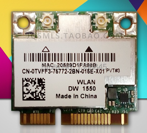 SSEA Gros Nouveau Broadcom BCM94352HMB DW1550 demi Mini PCI-E 802.11ac/b/g/n 2.4G/5.0 GHz WIFI Bluetooth 4.0 Sans Fil Carte