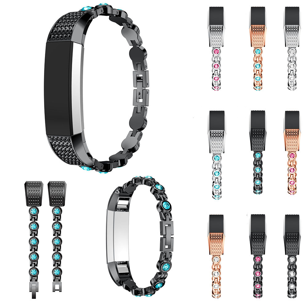 Stainless Steel Crystal Watch Band Wrist strap For Fitbit Alta HR/Fitbit Alta Smart Watch Accessory 2018 Hot correa relo lnop nylon rope survival strap for fitbit alta alta hr replacement band bracelet wristband watchband strap for fitbit alta