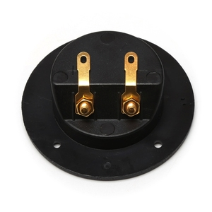Image 4 - Car Stereo Speaker Box Terminal Round Spring Cup Connector Subwoofer Plug