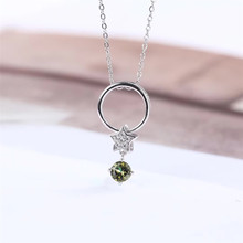 gemstone fine jewelry factory wholesale fashionable 925 sterling silver natural pink green tourmaline necklace pendant