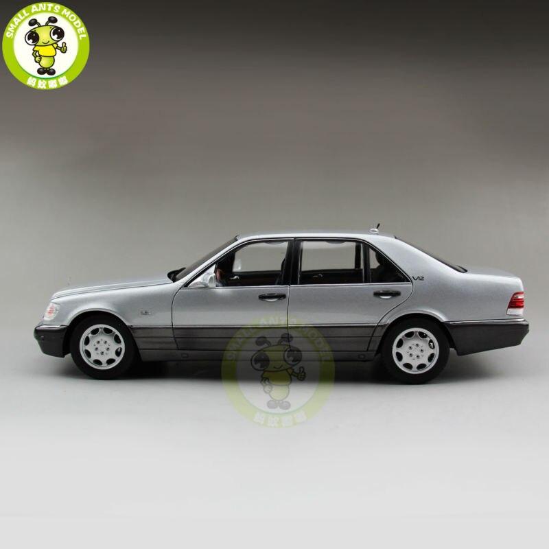 Défectueux 1/18 s-classe S classe S600 V12 W140 moulé sous pression modèle voiture jouets pour enfants collection passe-temps argent