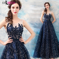 Crystal Starry Sky Special Occasion Dresses Long Evening Gowns for Women Elegant Evening Dress 2019 Evening Dresses Long ES2031