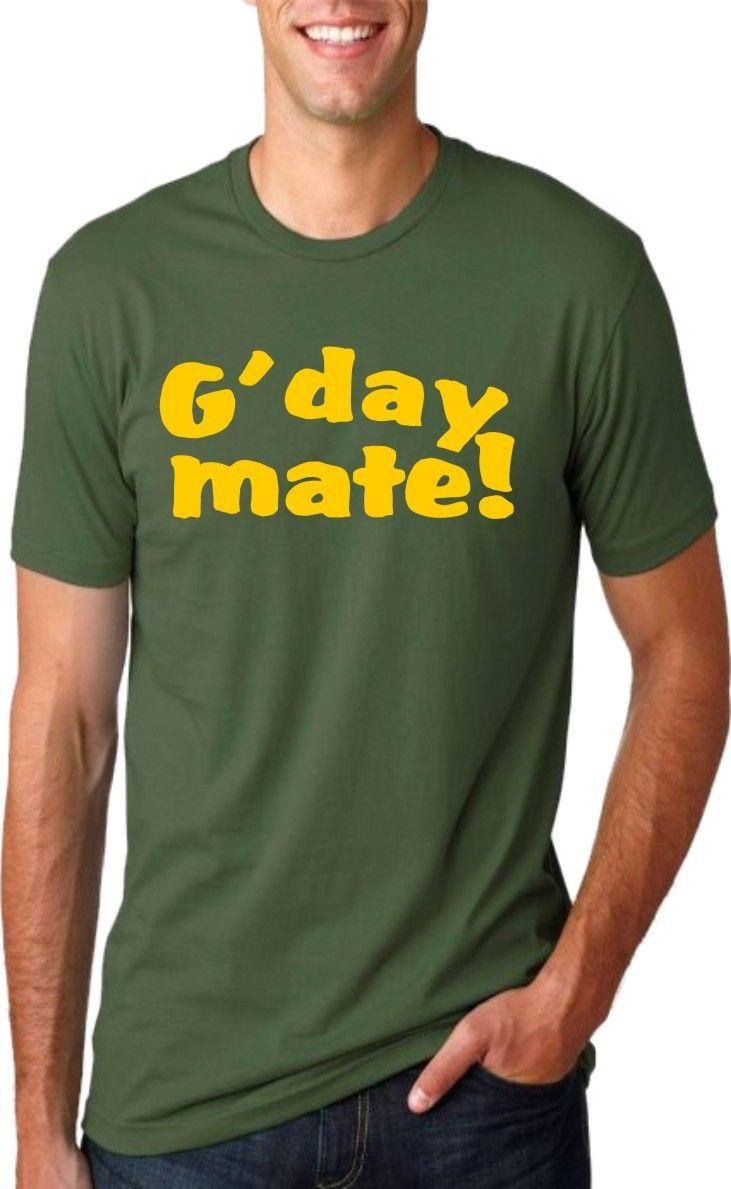Design your own t-shirt in australia - Cheap T Shirts Graphic G Day Mate Australia Day Aussie Crew Neck Short