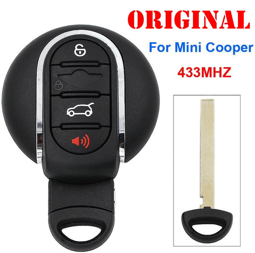 3Button 4 Button Remote Smart Car Key 433Mhz for BMW Mini Cooper 2007 2014 with Insert Key IDGNG1 in Car Key from Automobiles Motorcycles