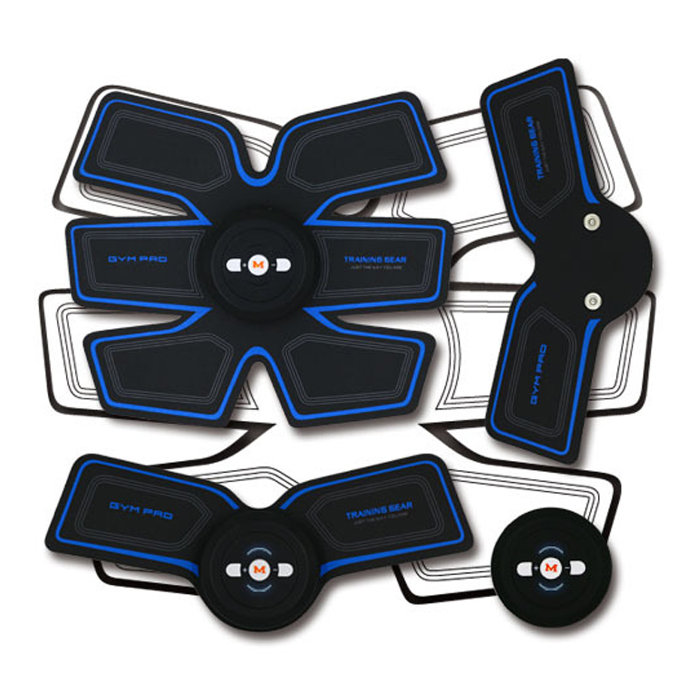 Power Fit Vibration Abdominal Muscle Trainer Arm Stickers Body Loss Slimming Massagers Abs Massager Pad Abdominal Exercise Belt
