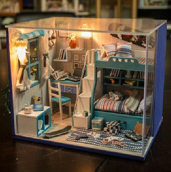 Doll House Furniture Miniature Diy Dollhouse Wood Doll House Moxie