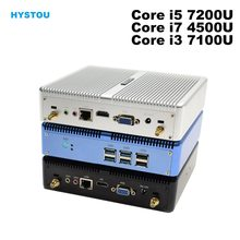Core i5 7200U i7 5550U HYSTOU Mini PC Windows 10 HDMI VGA pantalla dual puerto mini HTPC mini computadora Linux i3 7100U 4K TV box pc(China)