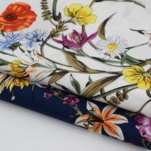 Rural wind flowers bloom reactive dyeing pure cotton fabric for dress shirt tissus au meter tissu telas tecido shabby chic DIY