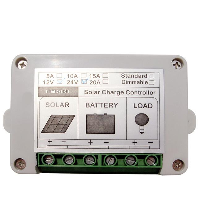 Solar Controller Regulator 15A 12V/24V Charge Battery Safe Protection CE Certify