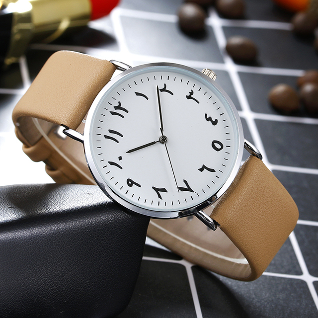 2018 BGG Brand Black White Lover's Couple Watches Unique Arabic Numbers Leather