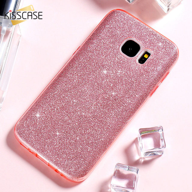 quality design 21398 1dbed US $4.99 |KISSCASE Girl Glitter Phone Case For Samsung Galaxy S7 Edge Cases  Bling Hard Back Cover For iPhone 6 6s Plus 5s SE 5 Coque Funda-in Fitted ...