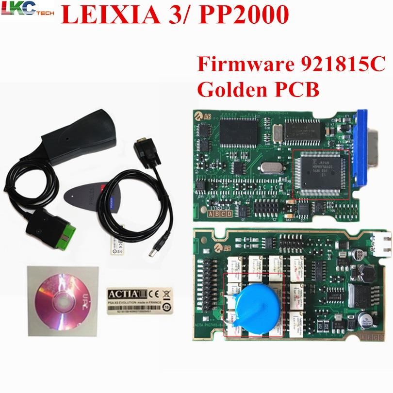 Lexia 3 chip completo oro PCB nueva versión V7.83 (Firmware 921815C) lexia3 herramienta de diagnóstico PP2000 para peu-geot y c-itroen