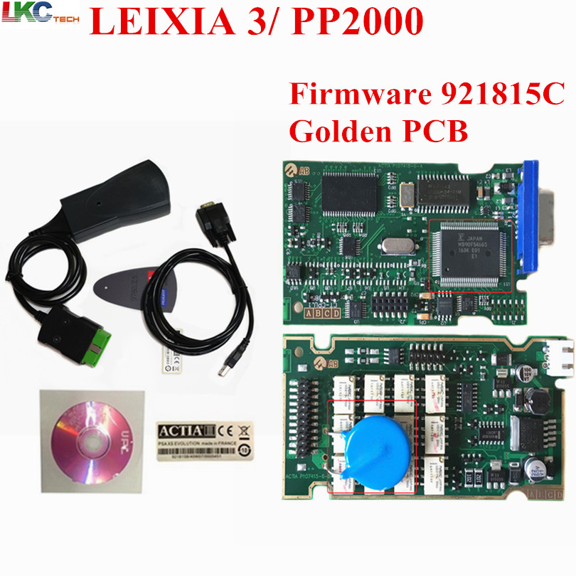 Newest Firmware 921815C Lexia 3 2017 Top selling lexia3 Diagnostic Tool PP2000 lexia 3 Golden PCB