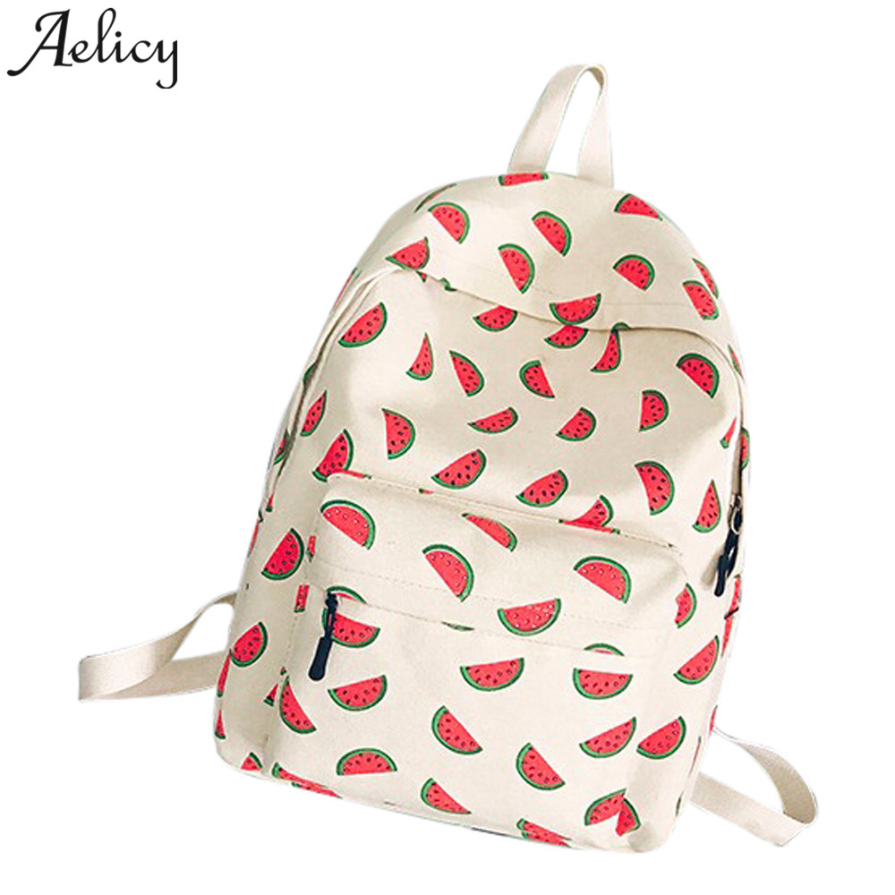 Aelicy Women Backpack Lace fruit print girls school Bag Personalized Ladies Backpack 2019 mochila feminina dropshipping hot saleAelicy Women Backpack Lace fruit print girls school Bag Personalized Ladies Backpack 2019 mochila feminina dropshipping hot sale