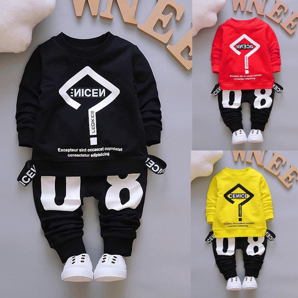 Free Shipping 2017 Spring Children Sport Suits Boys Girls Clothing Sets  Fashion Design Children Sports Suit  YL a7066fe15d67