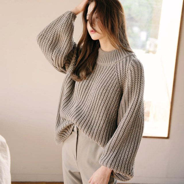 2019 Autumn And Winter Fashion New Wild Simple Loose Sets Of Large Size Sweater Women A Good Choice For The Fashion Sen Maiden