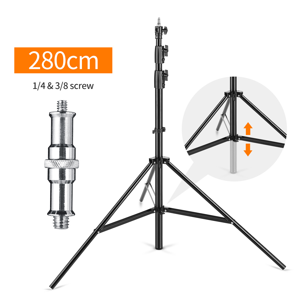 Improved 2 8 Meter 9 ft Heavy Duty Impact Air Cushioned Studio Light Stand Supportable in