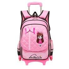 2342602de Triple ruedas mochila Trolley para niños moda Escuela de ruedas mochila  desmontable para Niñas Mochilas y bolsas para el colegio
