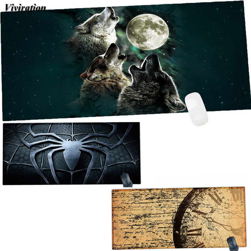 все цены на Viviration 90x40 cm XL Mouse Pad For Laser Trackball Mouse Optical Mice Rubber Computer Desk Mat For Overwatch Gaming Mouse Pad