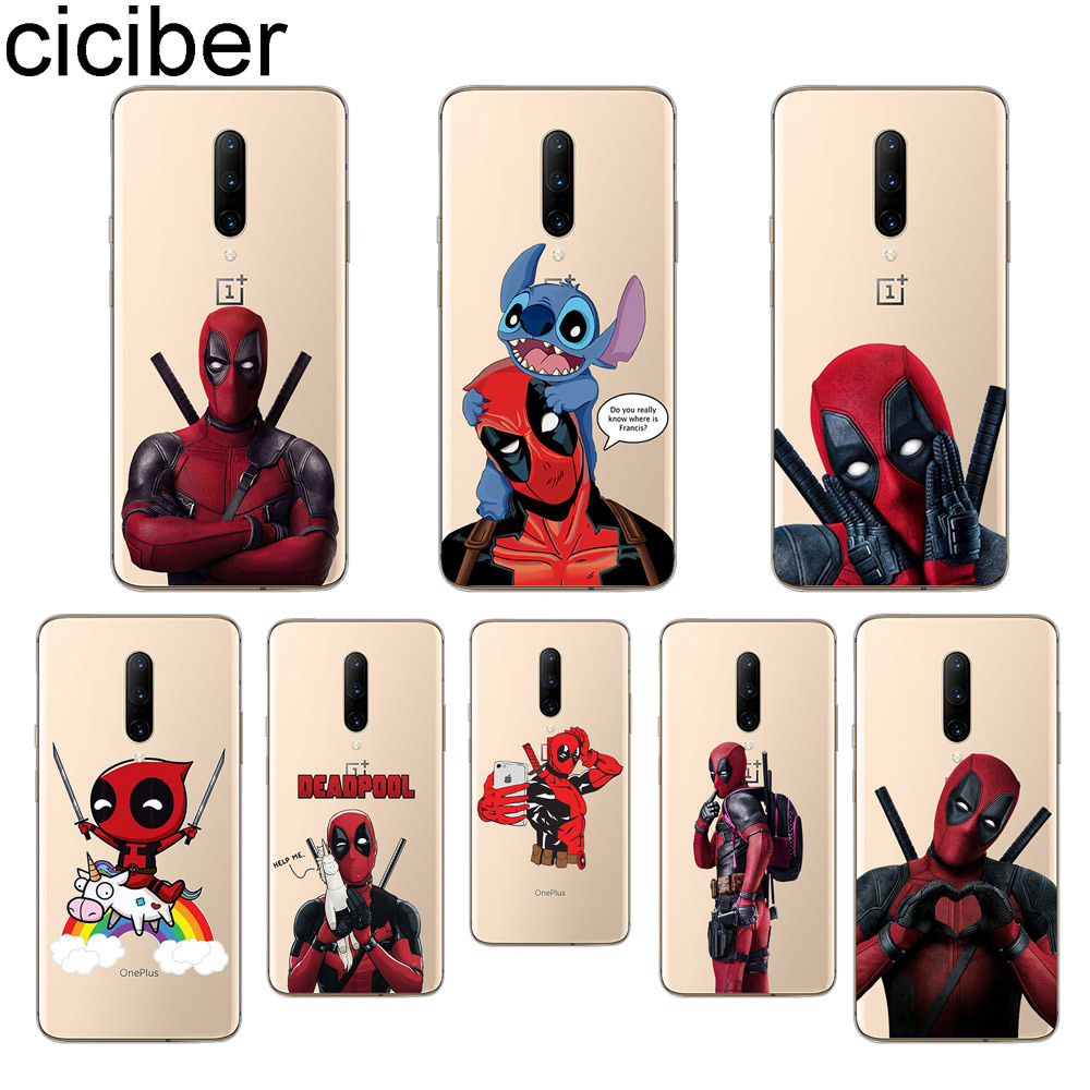 ciciber Marvel Deadpool Phone Cases For font b Oneplus b font font b 7 b font
