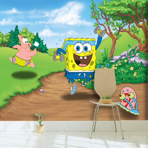 popular spongebob wall murals buy cheap spongebob wall spongebob wall mural corner black sheep art miami