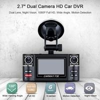 Car DVR Dual Lens Car Vehicle 1080P HD Dash Cam Car Camera Night Vision Recorder 360 Degree Carway F30 Car Driving Recorder 5