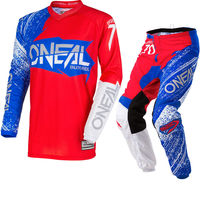 Freies verschiffen 2018 ONeal Element Burnout Motocross MX Jersey & hosen Rot Weiß Blau Kit Dirt Bike MTB DH Gelände Sets