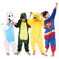 11 Styles Children Party Gifts Funny Animal Onesies Hot Cartoon Collections Winter Warm Sleepwear Flannel Animal