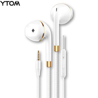 New earphone for apple iPhone 6 5 Samsung Xiaomi With Microphone 3.5mm Jack Bass in Ear fone de ouvido Headset  earpiece